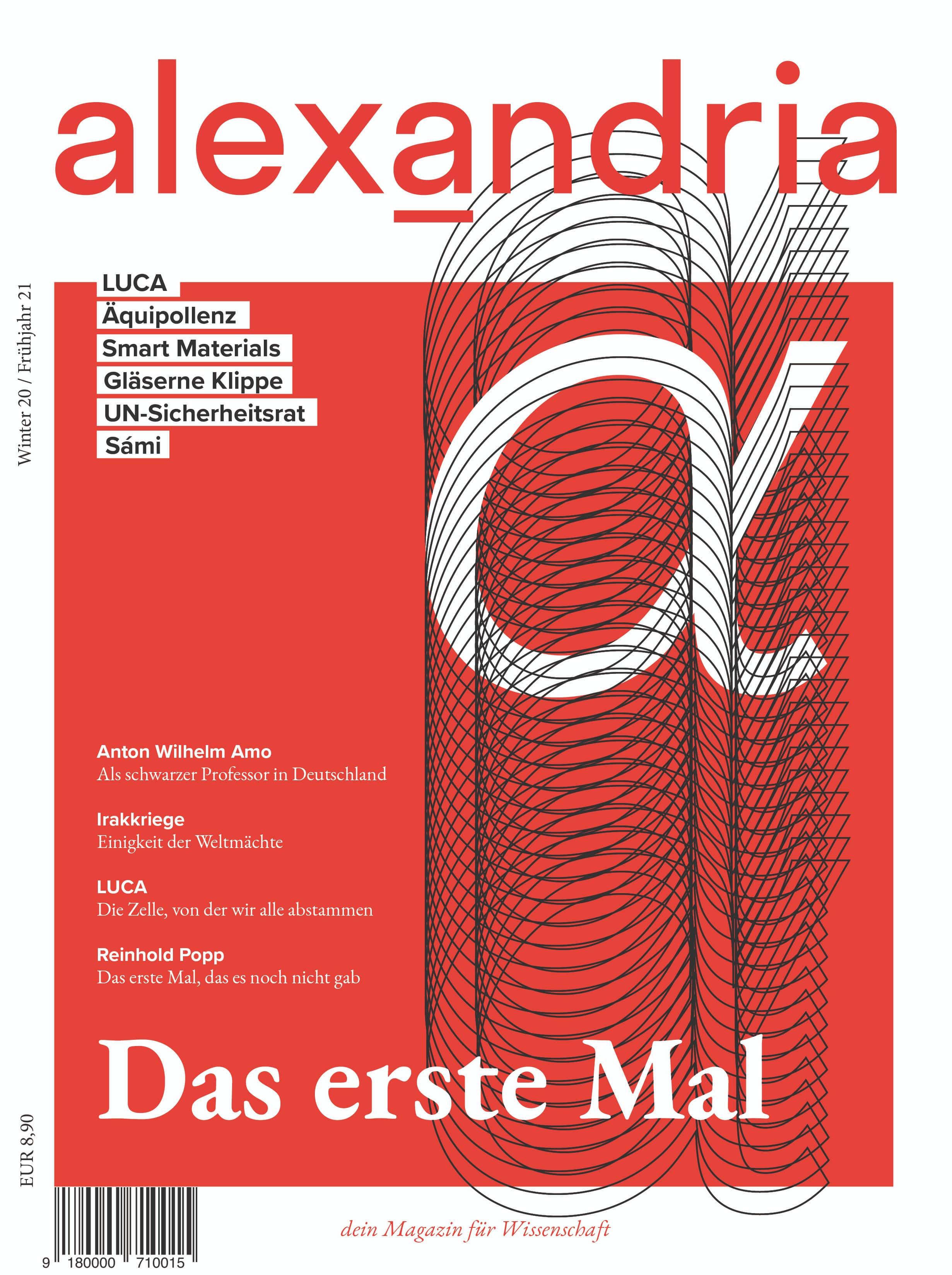 Cover Das erste Mal alexandria Magazin 01