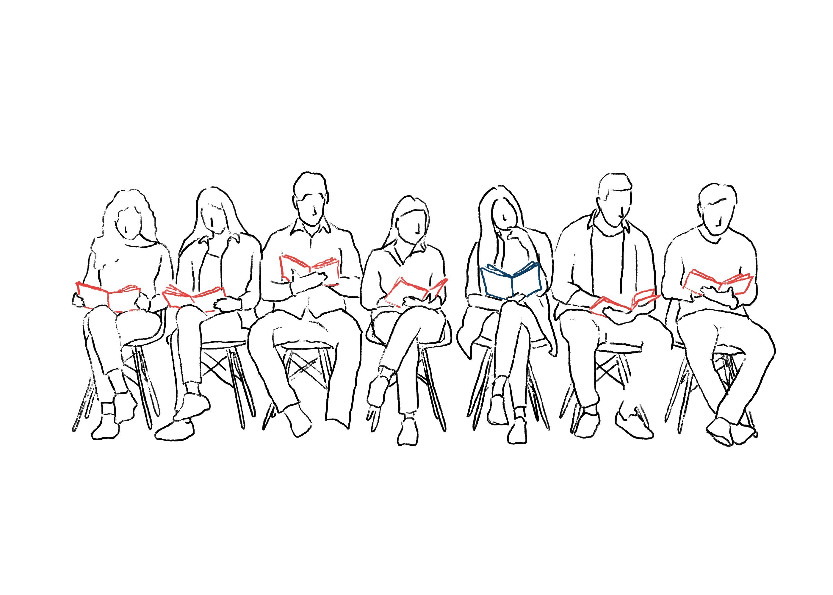 Die meisten Menschen lesen Massenmedien, einige wenige alternative Medien