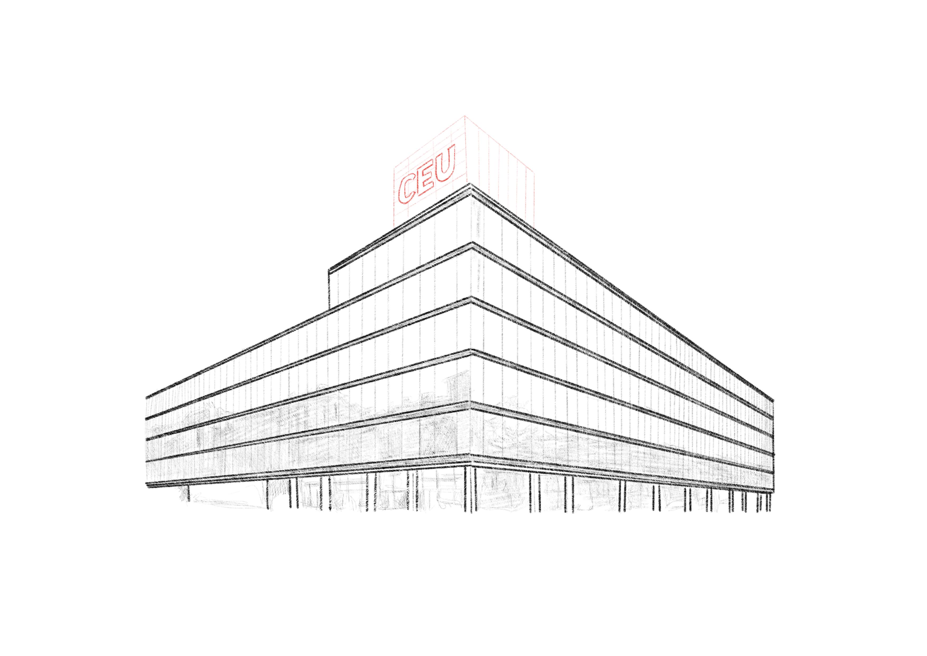 das neue Gebäude der CEU in Wien-Favoriten