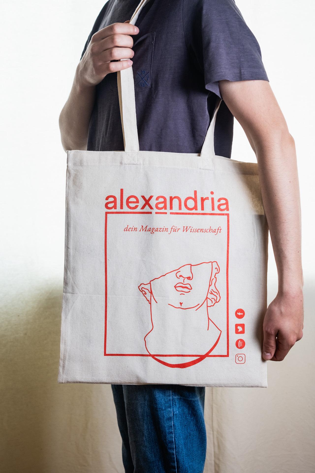 alexandria Tragetasche über der SChulter