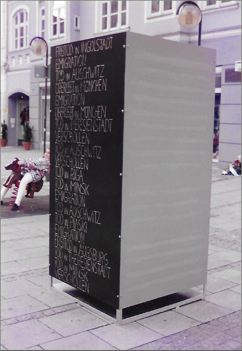 Provisorisches Erinnerungsmahl Ingolstadt