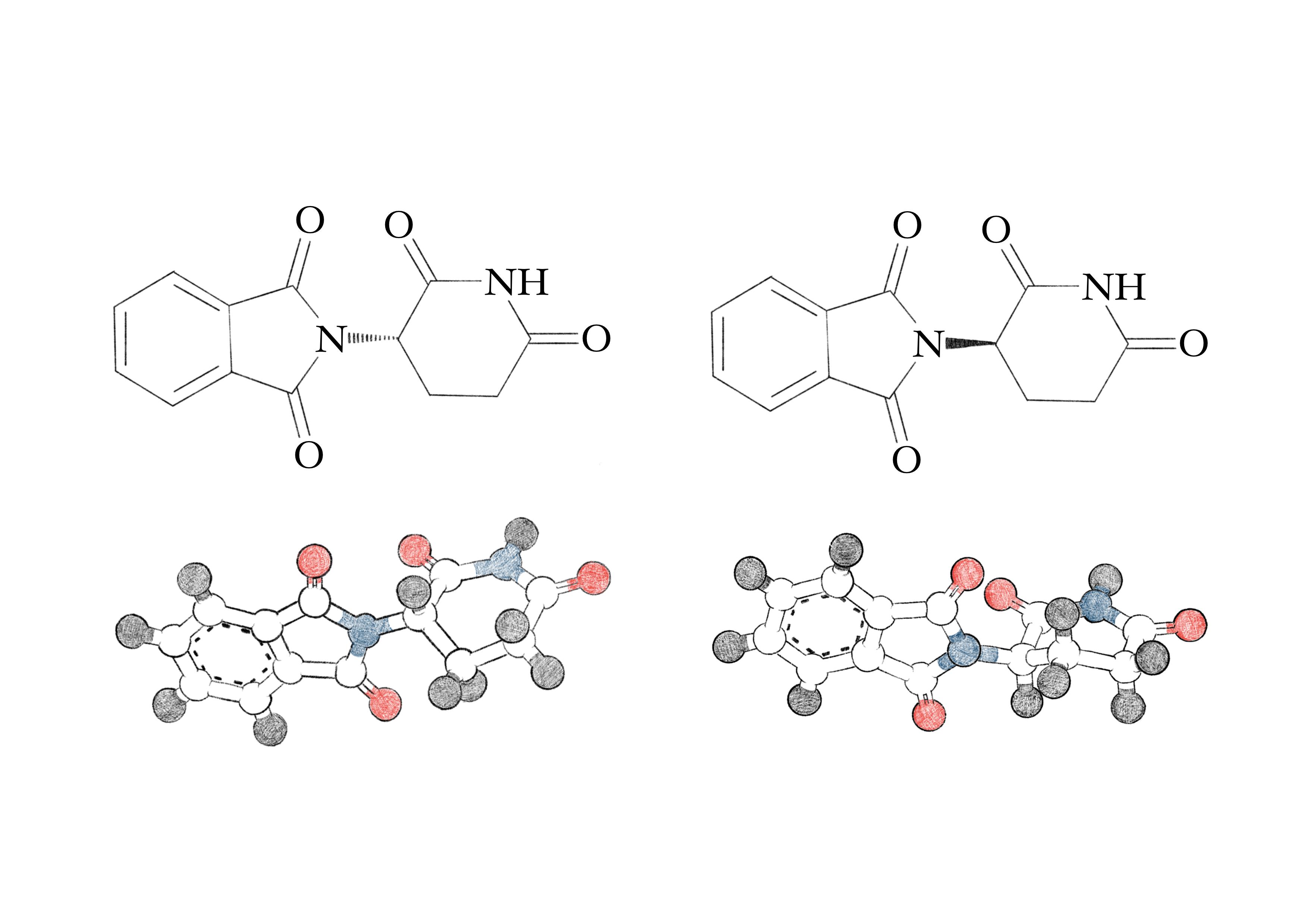 Struktur von Thalidomid