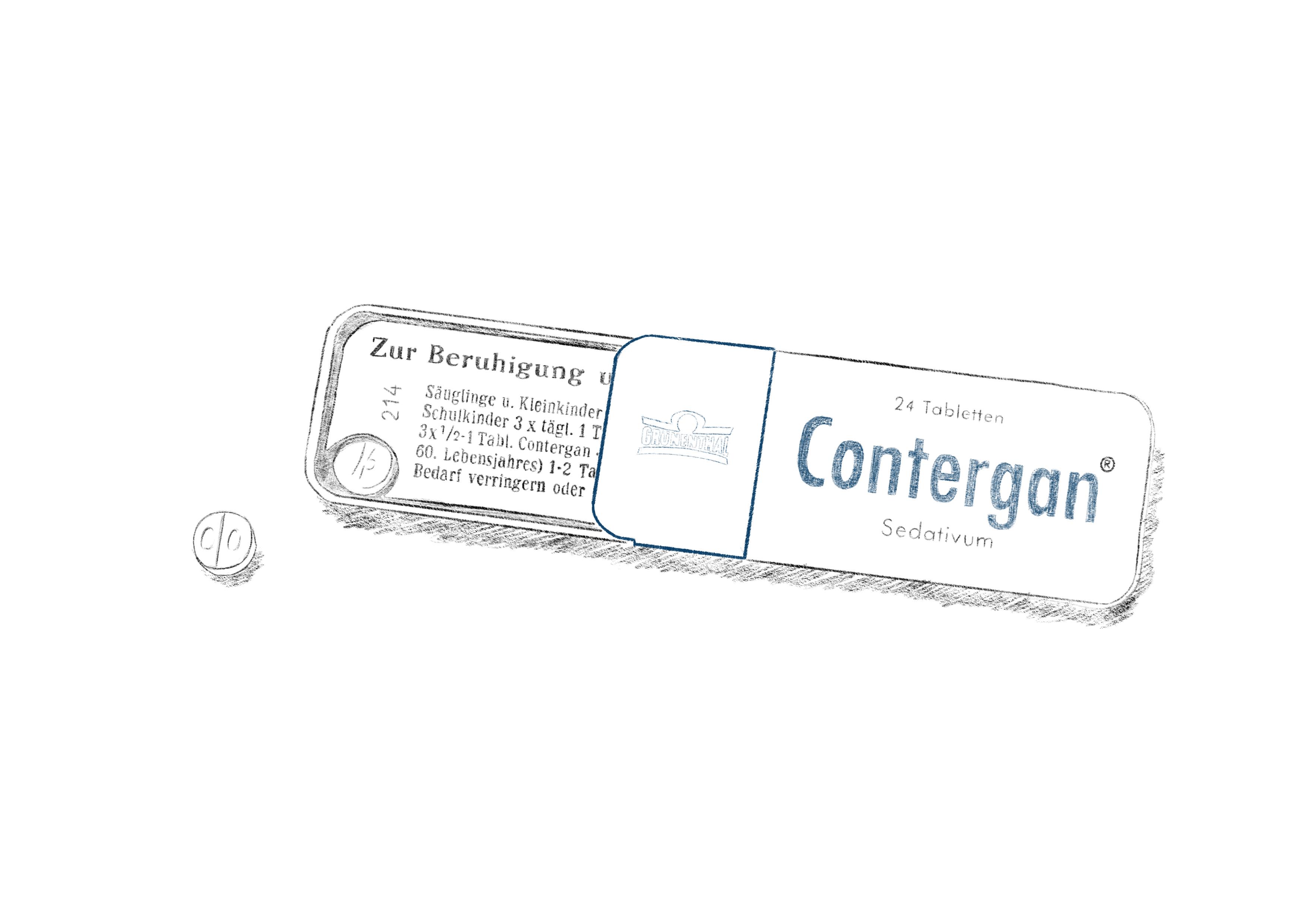 Verpackung Contergan