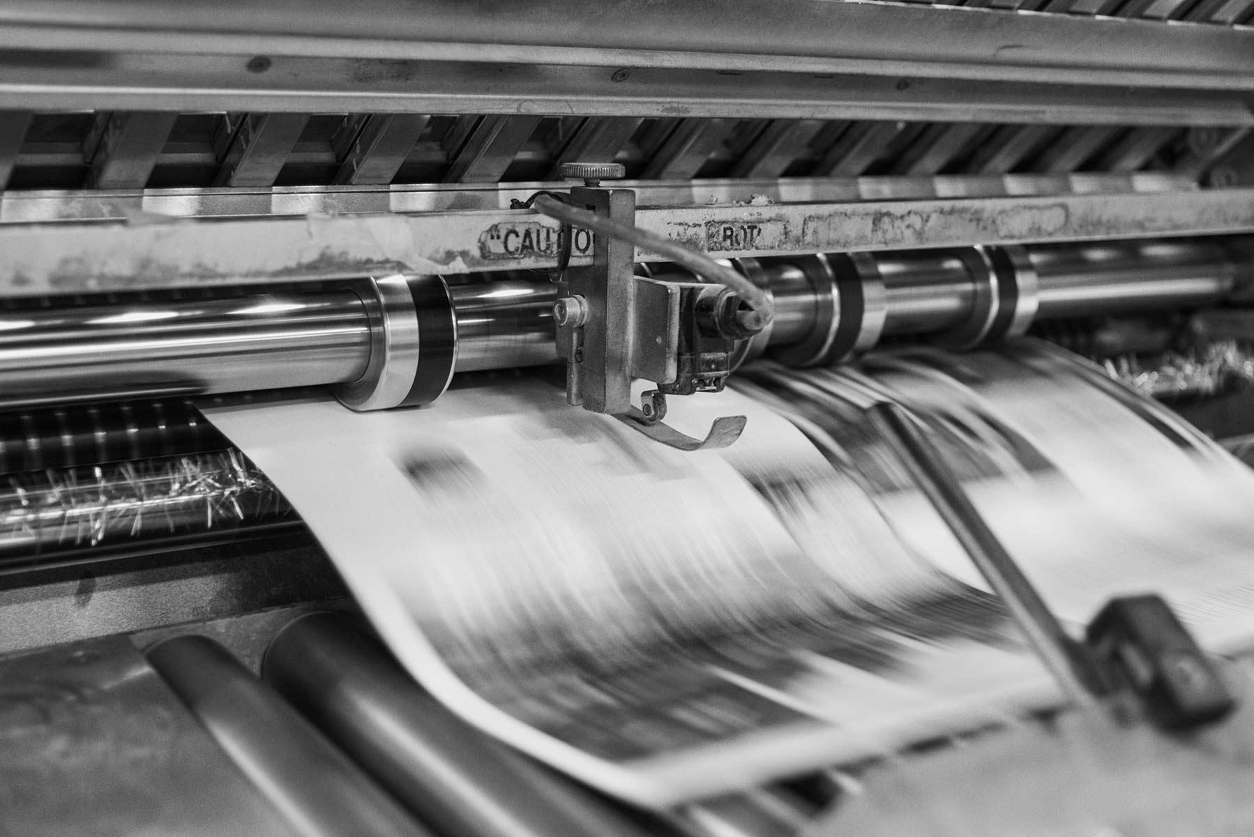 Druckmaschine Magazine